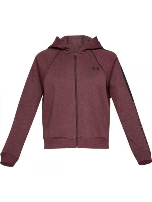 Damen Sweatshirt Under Armour Rival Fleece FZ Hoodie Bordeaux