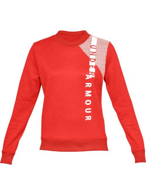 Damen Sweatshirt Under Armour Synthetic Fleece Crew Orange