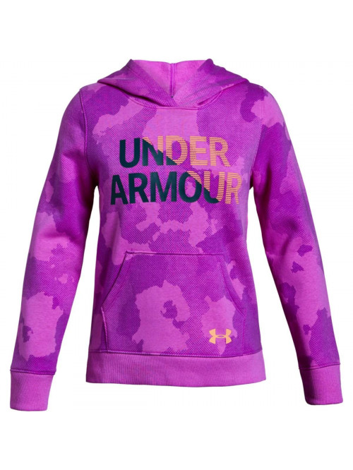 Mädchen Sweatshirt Under Armour Rival Hoody Lila