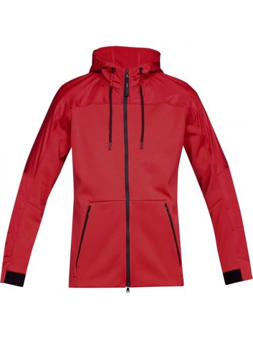 Herren Sweatshirt Under Armour Unstoppable Coldgear Swacket Rot