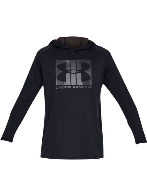 Herren Sweatshirt Under Armour Lighter Longer Hoodie Schwarz