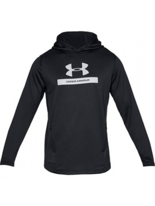 Herren Sweatshirt Under Armour MK1 Terry Graphic Hoodie Schwarz
