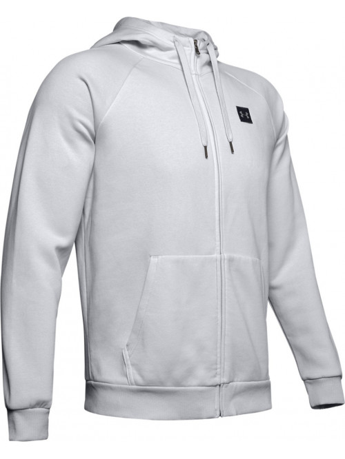 Herren Sweatshirt Under Armour RIVAL FLEECE FZ HOODIE Hellgrau