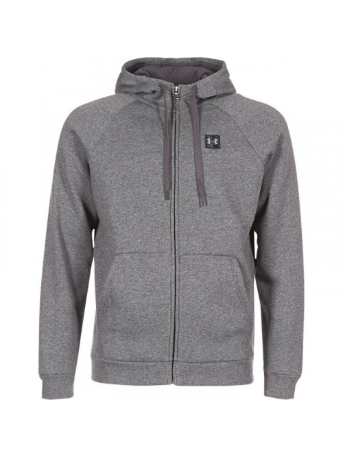 Herren Sweatshirt Under Armour RIVAL FLEECE FZ HOODIE Dunkelgrau