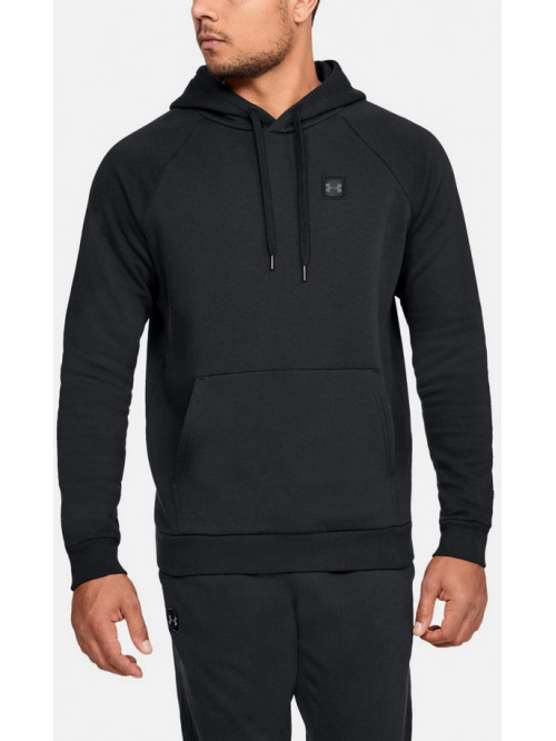 Herren Sweatshirt Under Armour RIVAL FLEECE PO HOODIE Schwarz