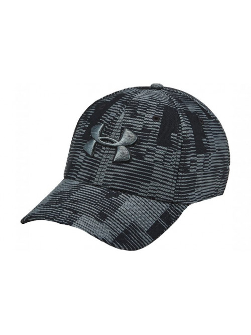 Kappe Under Armour Men's Printed Blitzing 3.0 Cap Schwarz-Grau