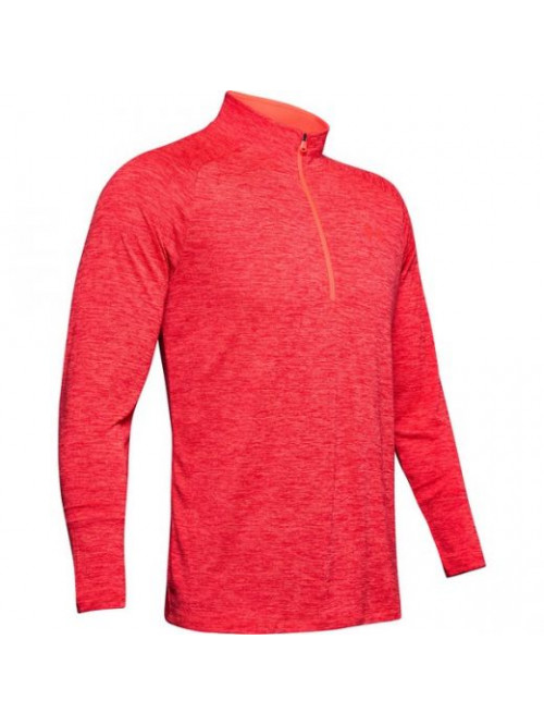 Herren T-Shirt Under Armour Tech 2.0 1/2 Zip Wire Rot