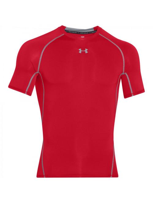 Herren Kompressions-T-Shirt Under Armour HeatGear Short Sleeve rot