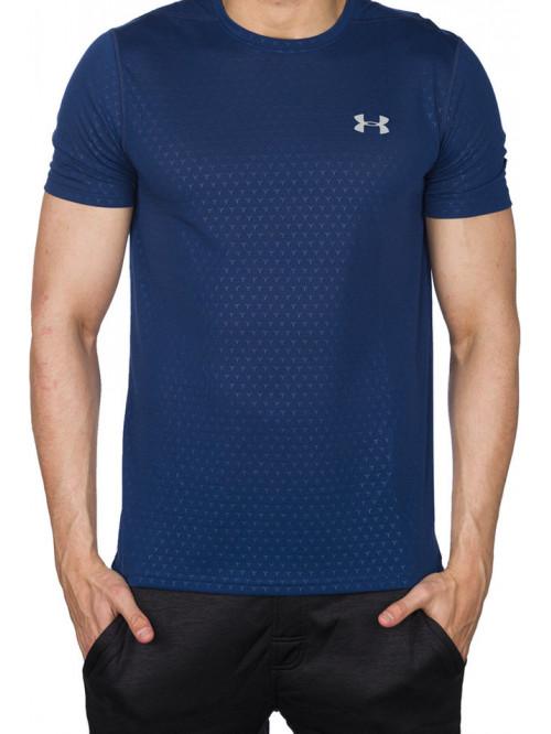Herren T-Shirt Under Armour Threadborne dunkelblau