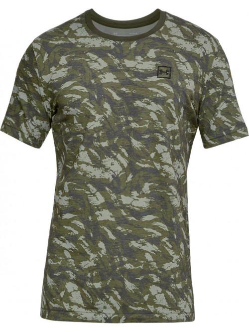 T-Shirt Under Armour AOP camo grün