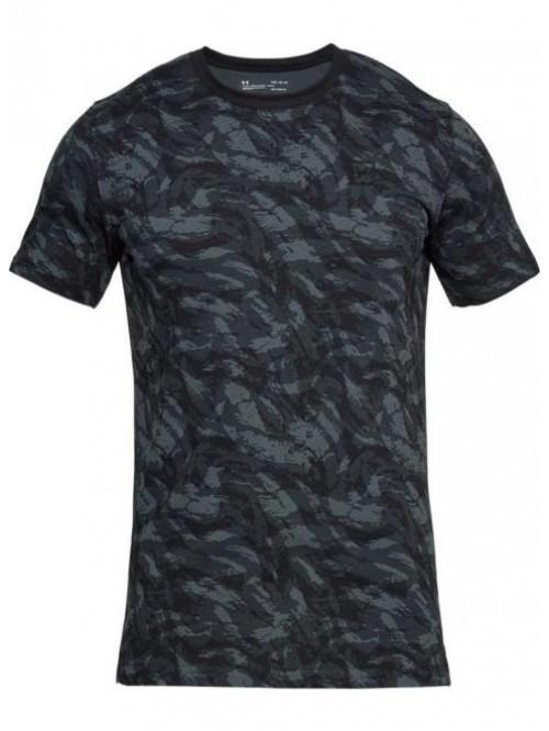 T-Shirt Under Armour AOP camo schwarz
