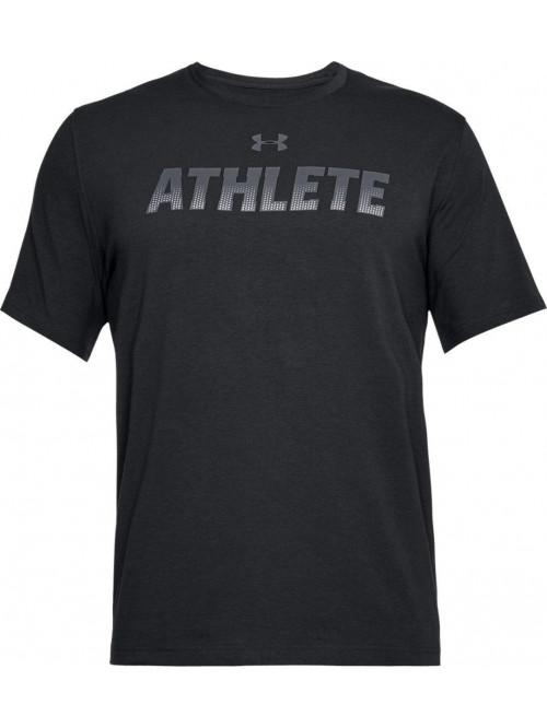 T-Shirt Under Armour Athlete schwarz