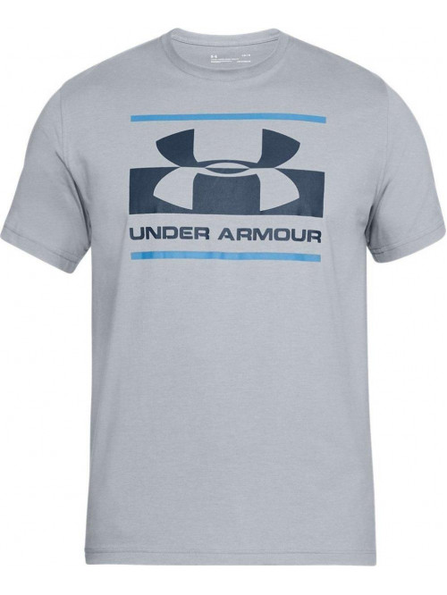 T-Shirt Under Armour Blocked grau