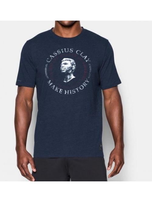 T-Shirt Under Armour Clay History blau