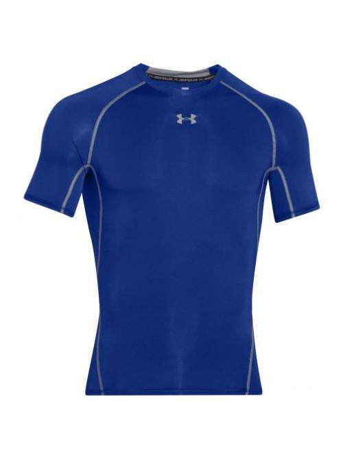 Herren Kompressions-T-Shirt Under Armour HeatGear Short Sleeve blau
