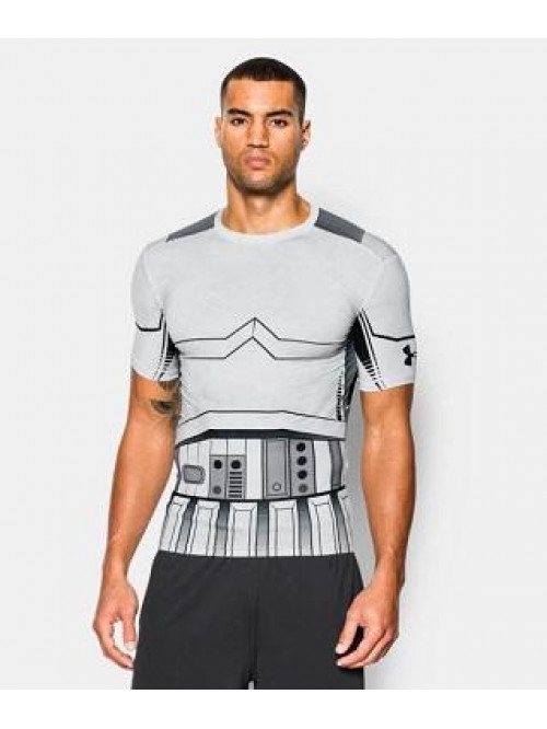 Kompressions-T-Shirt Under Armour Trooper weiß
