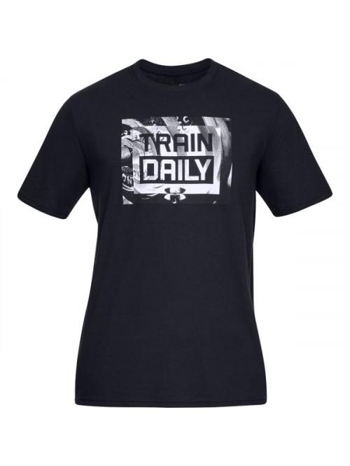 T-Shirt Under Armour Train Daily schwarz