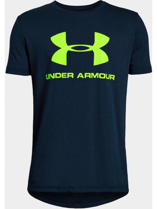 Jungen T-Shirt Under Armour Sportstyle Logo blau