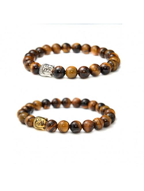 Armband Buddha Tigerauge