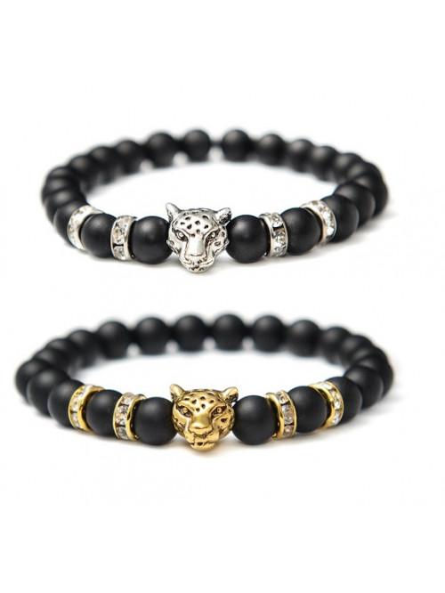 Armband Jaguar - schwarzer Achat