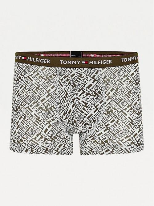 Herren Boxer Tommy Hilfiger All-Over Print Cotton Trunks Grün