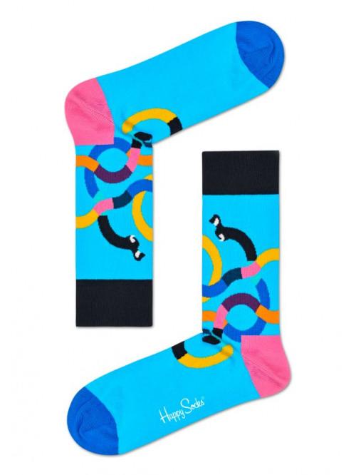 Socken Happy Socks Wiener Dog - Blau