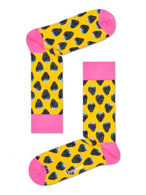 Socken Happy Socks Strawberry Gelb