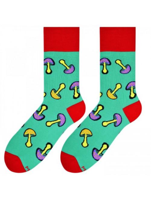 Socken Mushrooms More - Grün