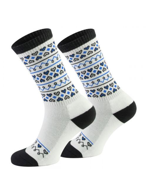 Socken Walker's Folk - Weiß-Blau