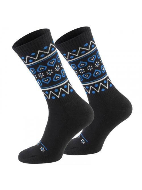 Socken Walker's Folk - Schwarz-Blau