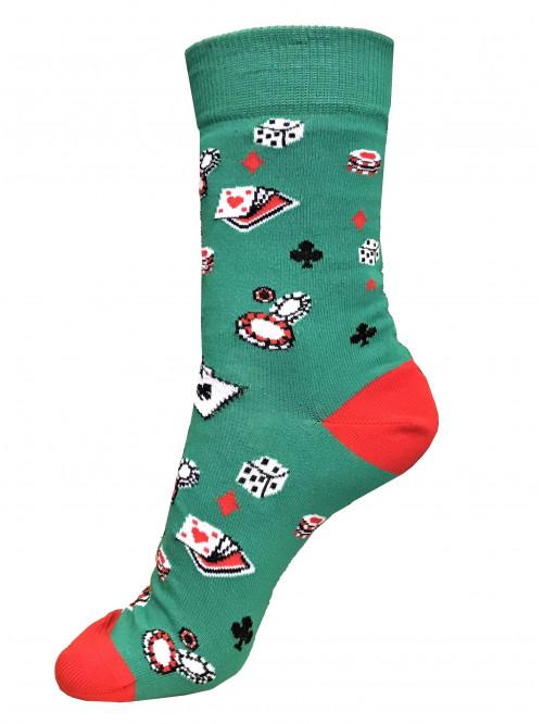 Socken Poker Wola - Grün