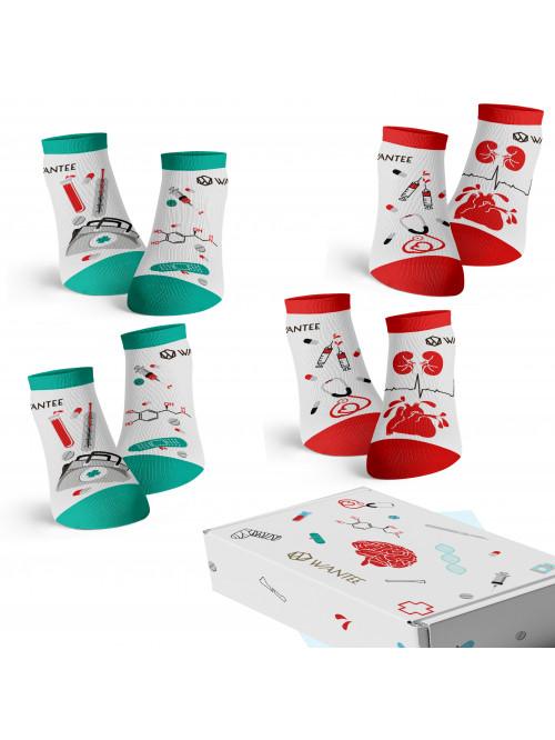 Knöchel Wantee-Socken Medical 4-Pack Geschenkbox