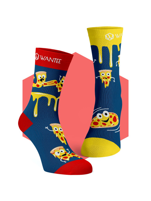 Socken Crazy Pizza Wantee