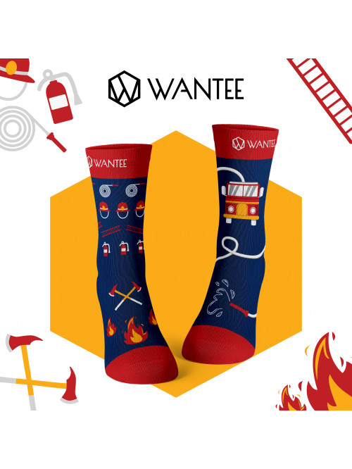 Socken Feuerwehrmann Wantee