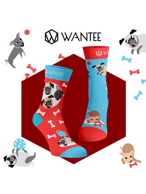Socken Verspielte Hunde Wantee