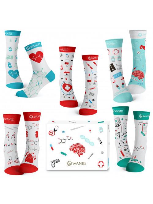 Wantee-Socken Medical 5-Pack Geschenkbox