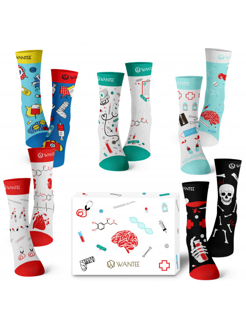 Wantee-Socken Medical 5-Pack Geschenkbox
