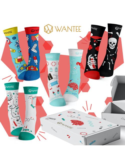 Wantee-Socken Medical 4-Pack Geschenkbox