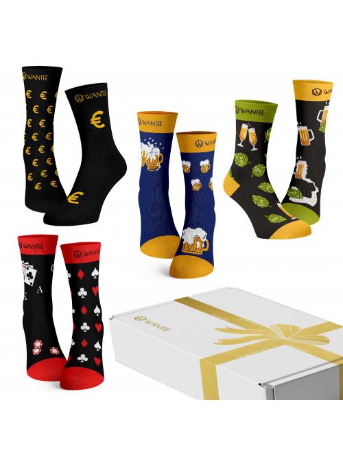 Wantee-Socken Männerclub 4-Pack Geschenkbox
