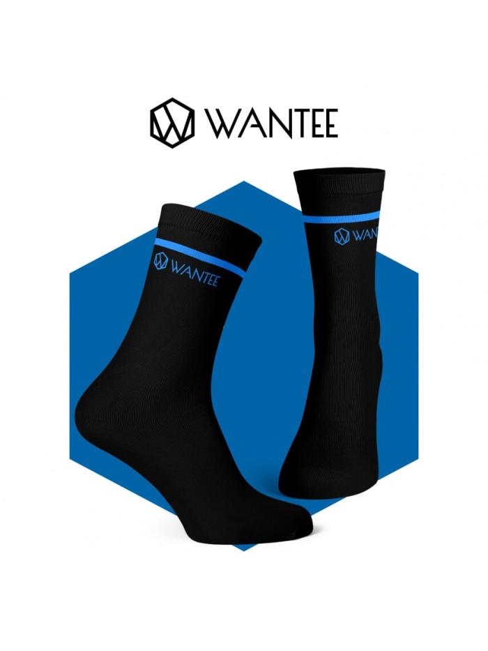 Socken Basic Black and Blue Wantee