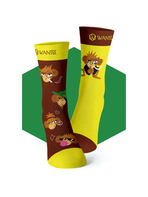 Socken Freche Affen Wantee
